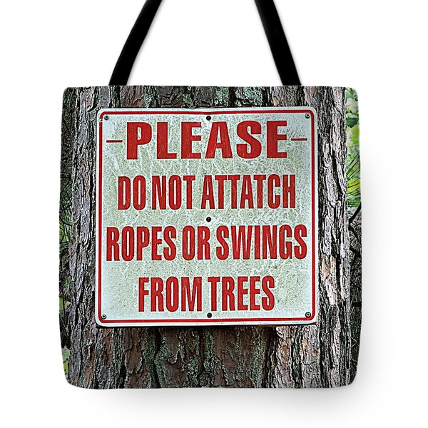 Tote Bag featuring the photograph Attatch Or Attach by Renee Trenholm