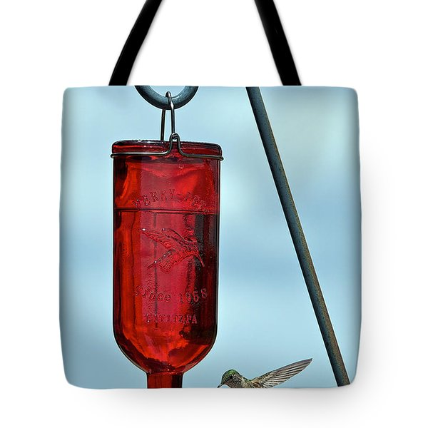 Attracting Hummingbirds Tote Bag by Stephen  Johnson