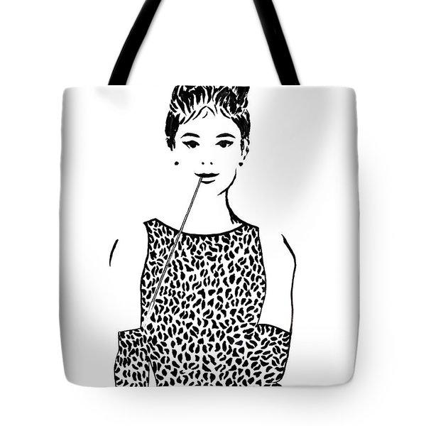 Audrey Hepburn Tote Bag by Georgeta  Blanaru