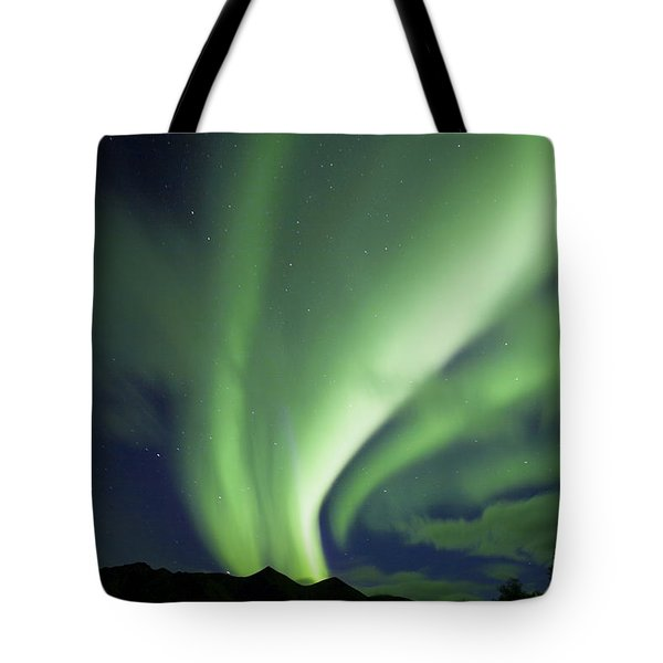 Aurora Borealis, Tombstone Territorial Tote Bag by John Sylvester