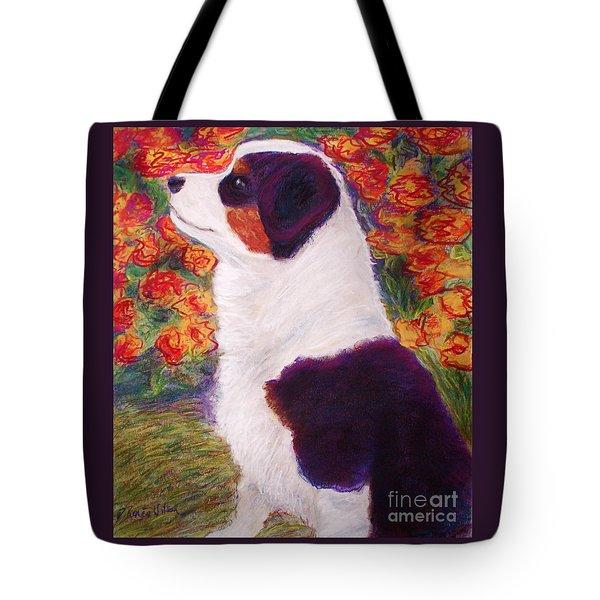 Aussie Pup Tote Bag by D Renee Wilson