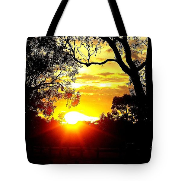 Tote Bag featuring the photograph Aussie Sunset by Blair Stuart