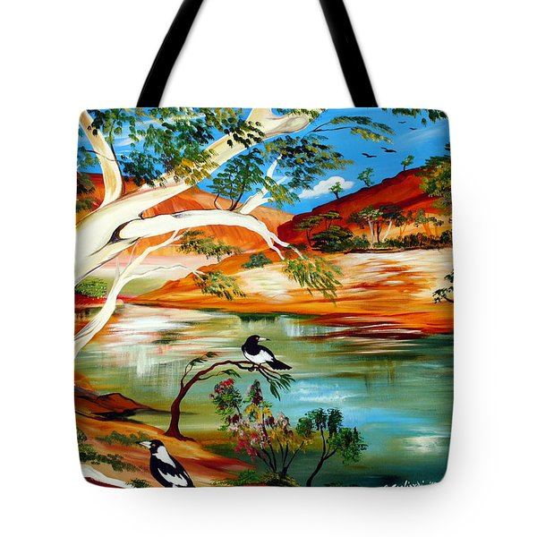 Tote Bag featuring the painting Australia My Way by Roberto Gagliardi