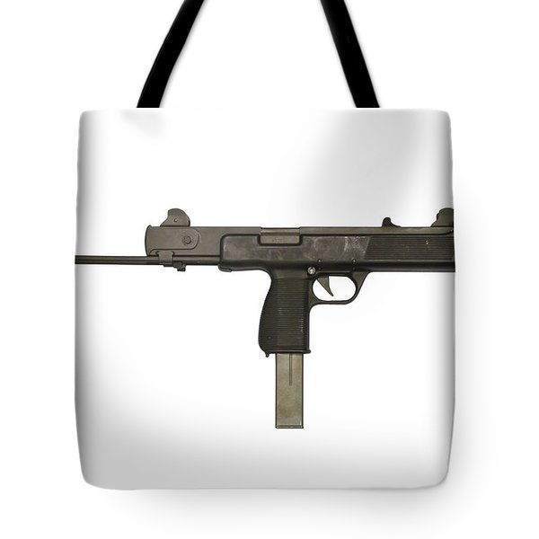 Austrian 9mm Steyr Mpi 81 Submachine Tote Bag by Andrew Chittock