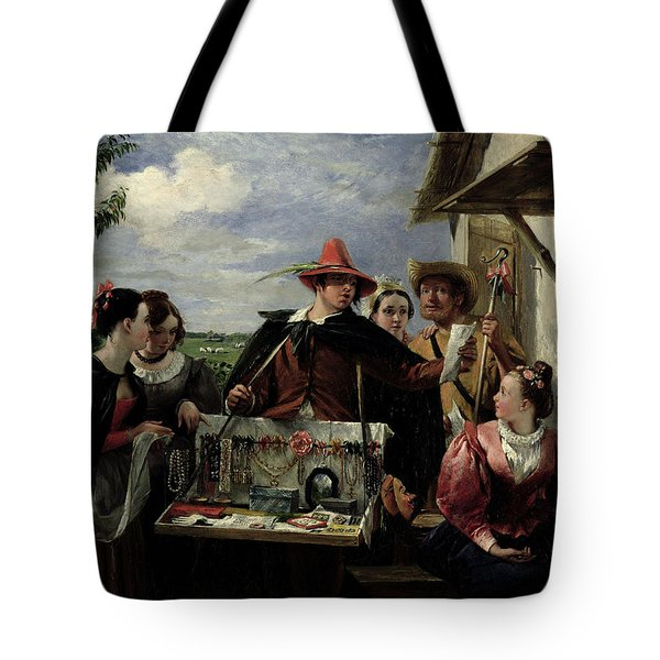 Autolycus Scene From 'a Winter's Tale' Tote Bag by  Robert Leslie