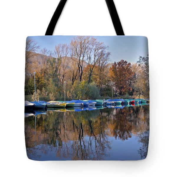 autum at the Lake Maggiore Tote Bag by Joana Kruse