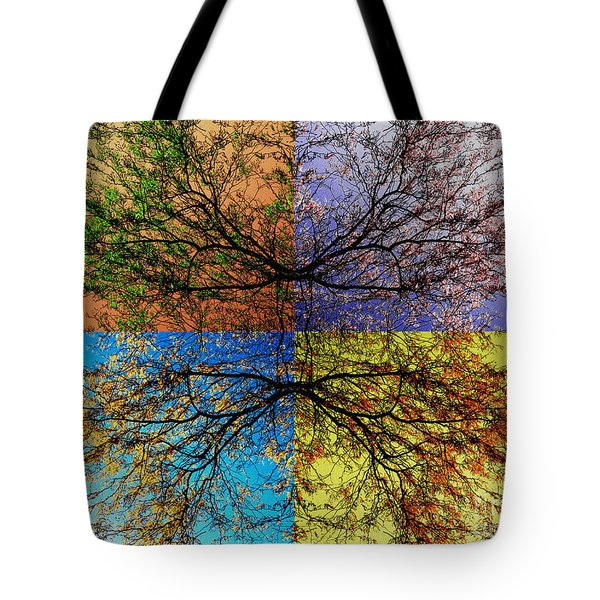 Autumn Abstract Tote Bag by Jeff Breiman