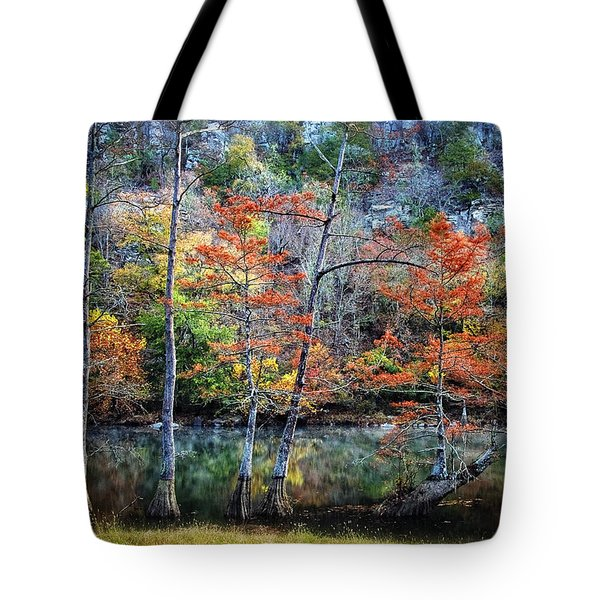 Autumn At Beaver's Bend Tote Bag by Tamyra Ayles