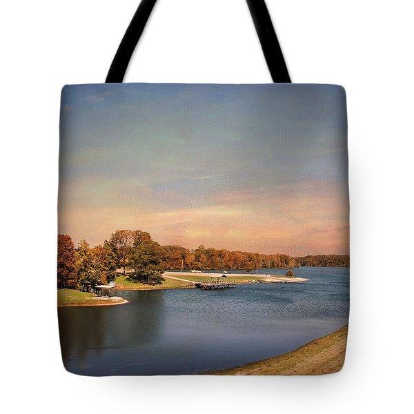 Autumn At Lake Graham 2 Tote Bag by Jai Johnson