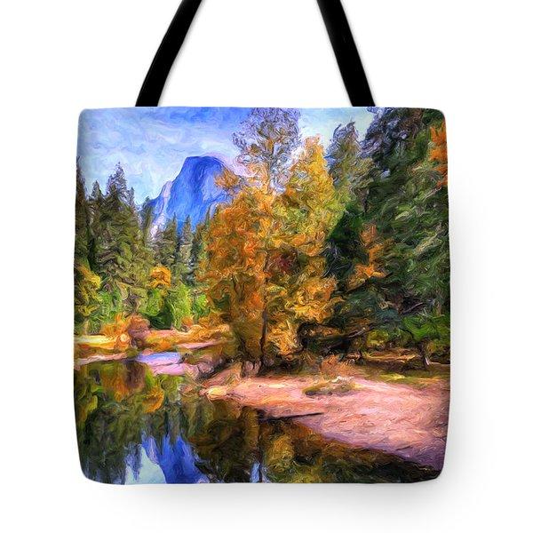 Autumn At Yosemite Tote Bag by Dominic Piperata