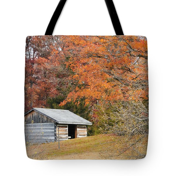 Autumn Behind The Homestead Tote Bag