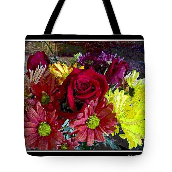 Tote Bag featuring the digital art Autumn Boquet by Debbie Portwood