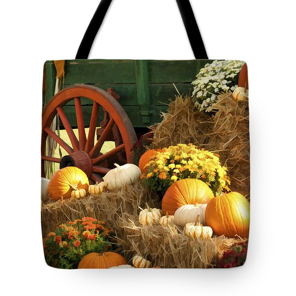 Autumn Bounty Vertical Tote Bag by Kathy Clark