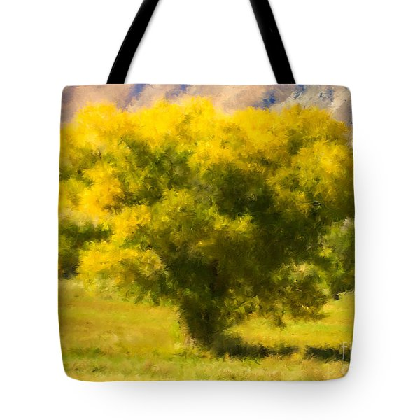 Autumn Cottonwood Tote Bag