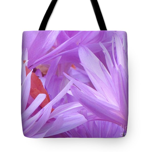 Tote Bag featuring the photograph Autumn Crocus by Michele Penner