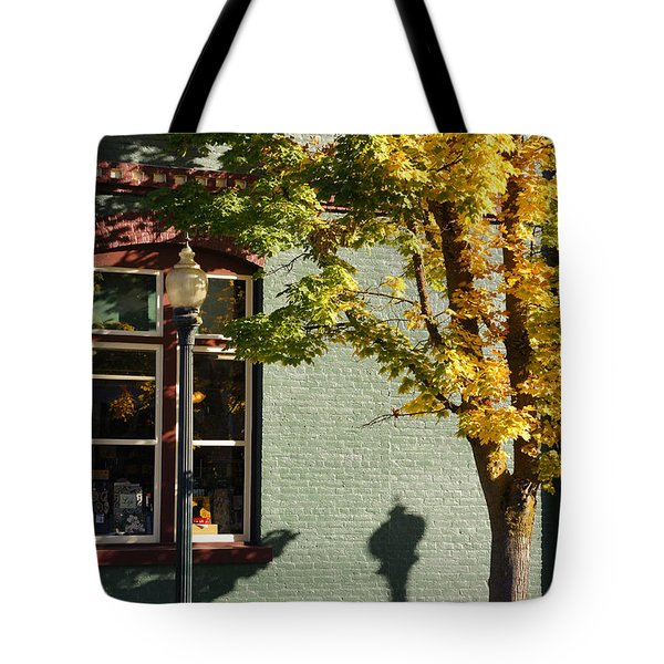 Autumn Detail In Old Town Grants Pass Tote Bag by Mick Anderson