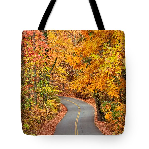 Autumn Drive Signal Mountain Tote Bag