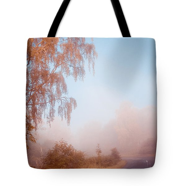 Autumn Fairytale. Misty Roads Of Scotland  Tote Bag by Jenny Rainbow