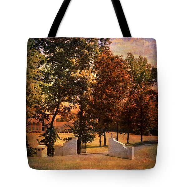 Autumn Gate Tote Bag by Jai Johnson