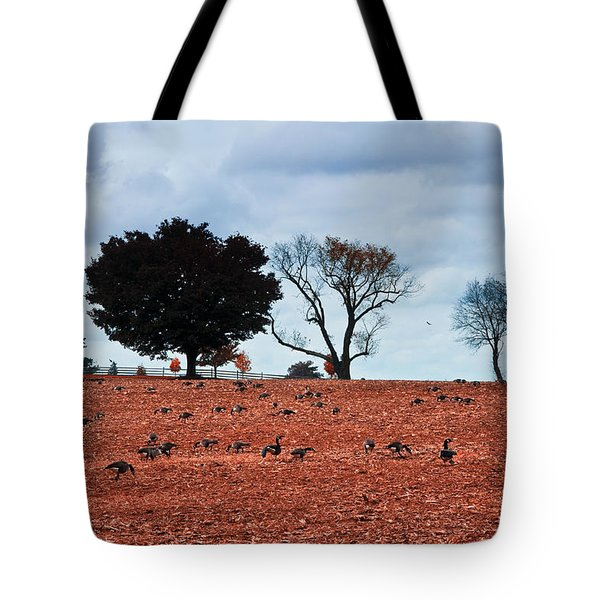Autumn Geese Tote Bag by Bill Cannon