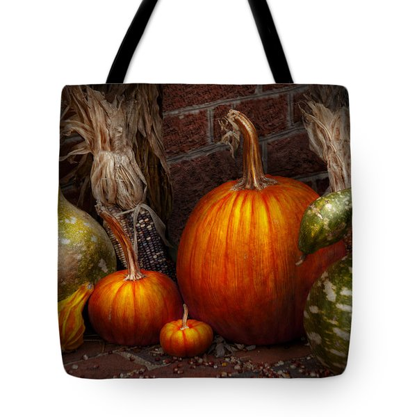 Autumn - Gourd - Family Get Together Tote Bag by Mike Savad