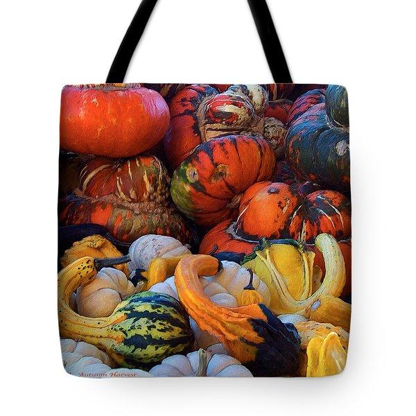 Autumn Harvest Tote Bag by Carol Cavalaris