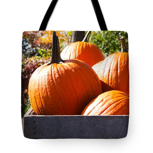 Autumn Harvest Tote Bag by Julia Wilcox