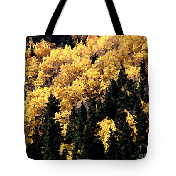 Autumn In Colorado Painting Tote Bag