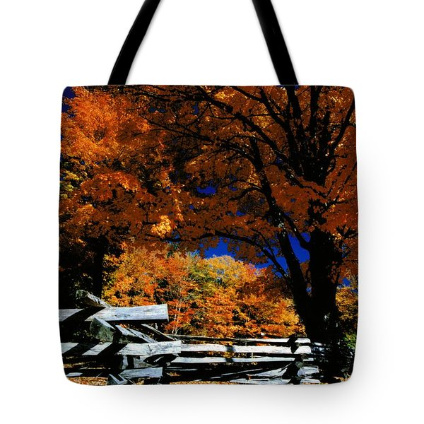Autumn In Holderness Tote Bag by Rick Frost