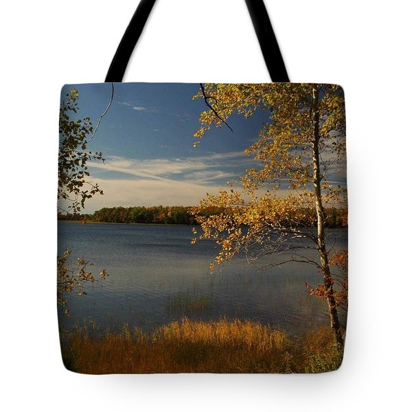 Tote Bag featuring the photograph Autumn In Maine by Alana Ranney