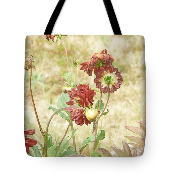 Autumn In The Garden  Tote Bag by Pamela Patch