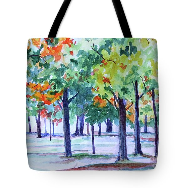 Autumn In The Park Tote Bag by Jan Bennicoff