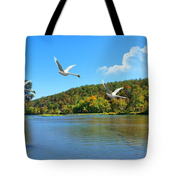 Autumn Landing Tote Bag