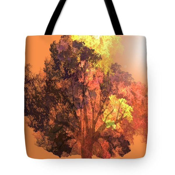 Tote Bag featuring the digital art Autumn Leaves by John Pangia