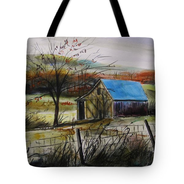 Tote Bag featuring the painting Autumn Light By John Williams by John Williams
