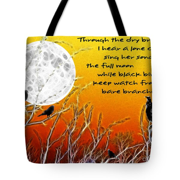 Autumn Moon Tote Bag by Methune Hively
