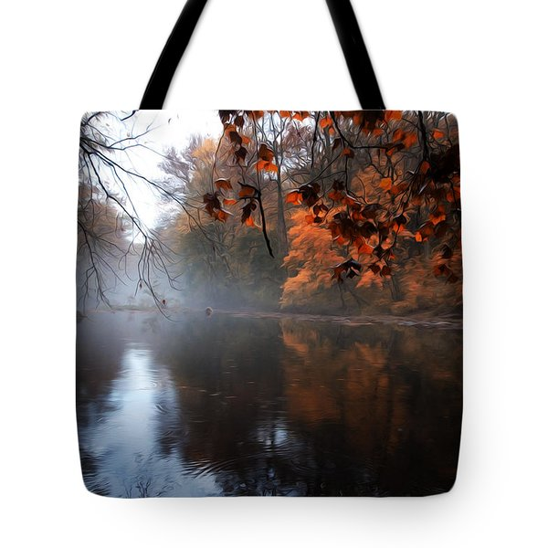 Autumn Morning By Wissahickon Creek Tote Bag by Bill Cannon