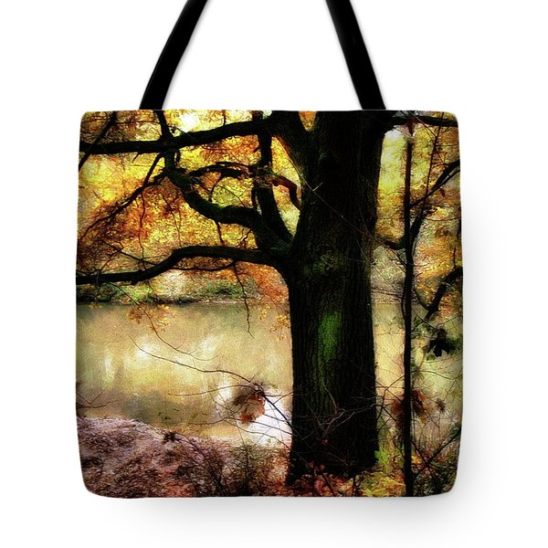 Autumn Oak Tree Tote Bag