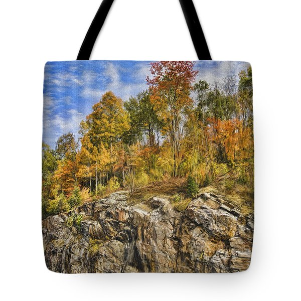 Autumn On The Rocks Tote Bag by Jo-Anne Gazo-McKim