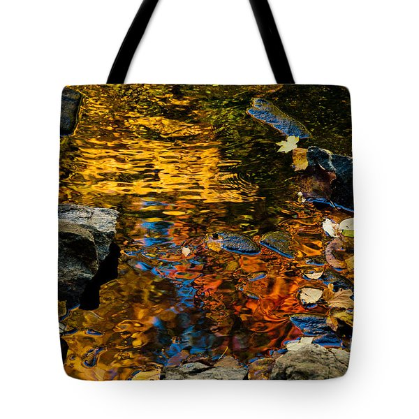 Autumn Reflections Tote Bag by Cheryl Baxter