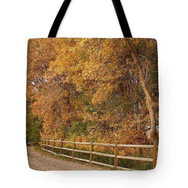 Autumn  Road To The Ranch Tote Bag by James BO  Insogna
