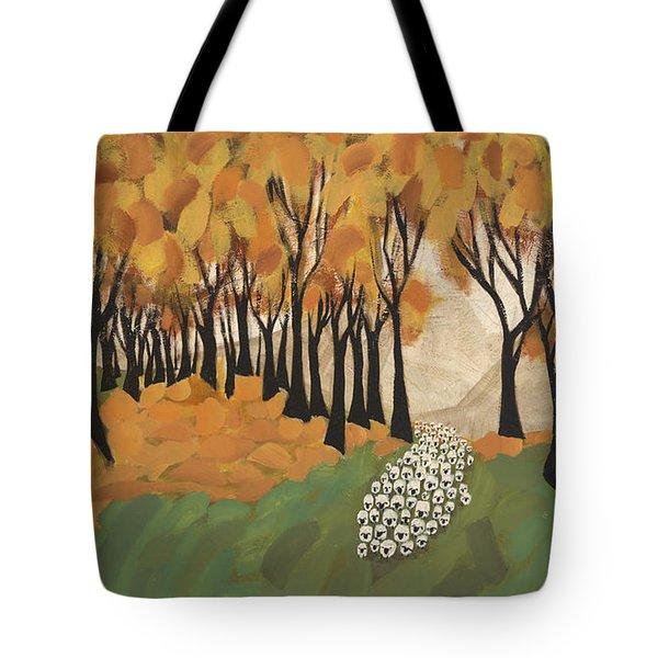 Autumn Sheep Tote Bag