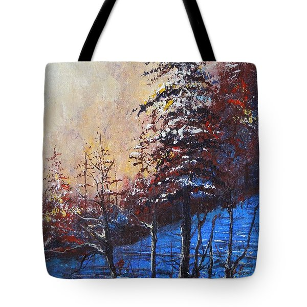 Autumn Silence Tote Bag by Dan Whittemore