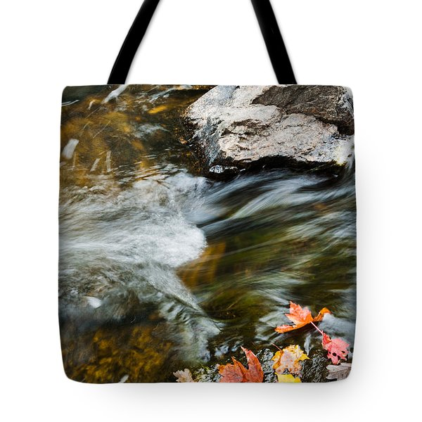 Tote Bag featuring the photograph Autumn Stream by Cheryl Baxter