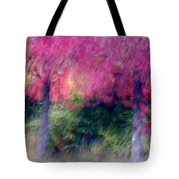 Autumn Trees Tote Bag by Carol Leigh