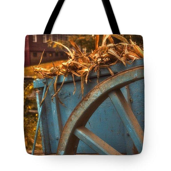 Autumn Wagon Tote Bag by Joann Vitali