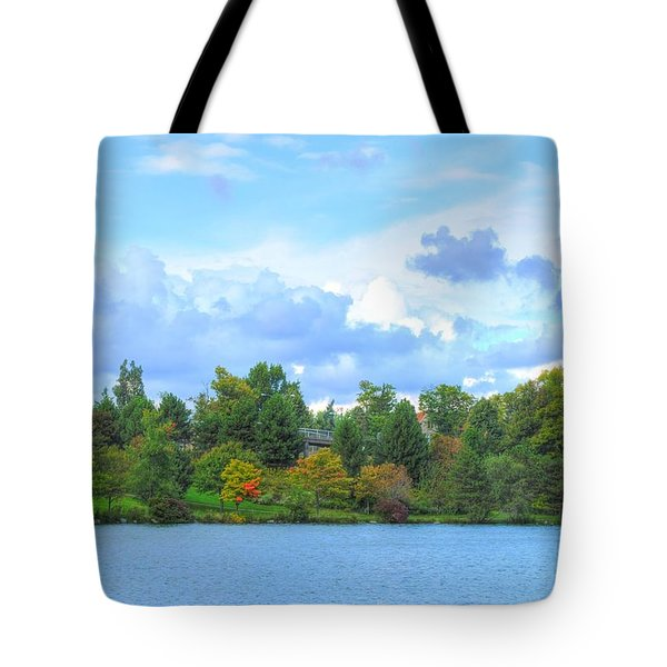 Tote Bag featuring the photograph Autumn's Beauty At Hoyt Lake by Michael Frank Jr