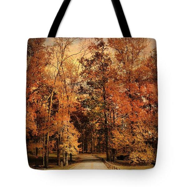 Autumn's Entrance Tote Bag by Jai Johnson