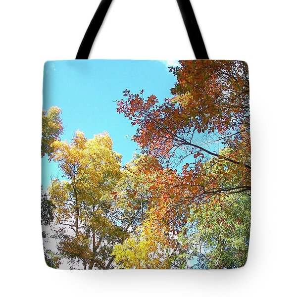 Tote Bag featuring the photograph Autumn's Vibrant Image by Pamela Hyde Wilson
