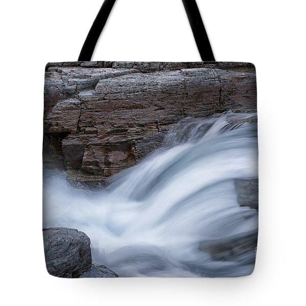 Avalanche Creek - Glacier National Park Tote Bag by Sandra Bronstein